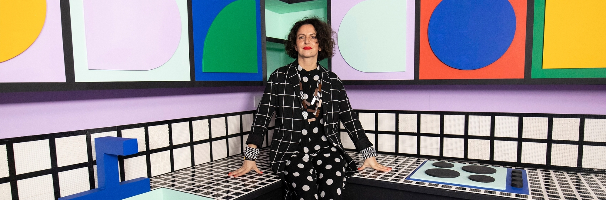 Lego and French designer Camille Walala build a life-size House of Dots