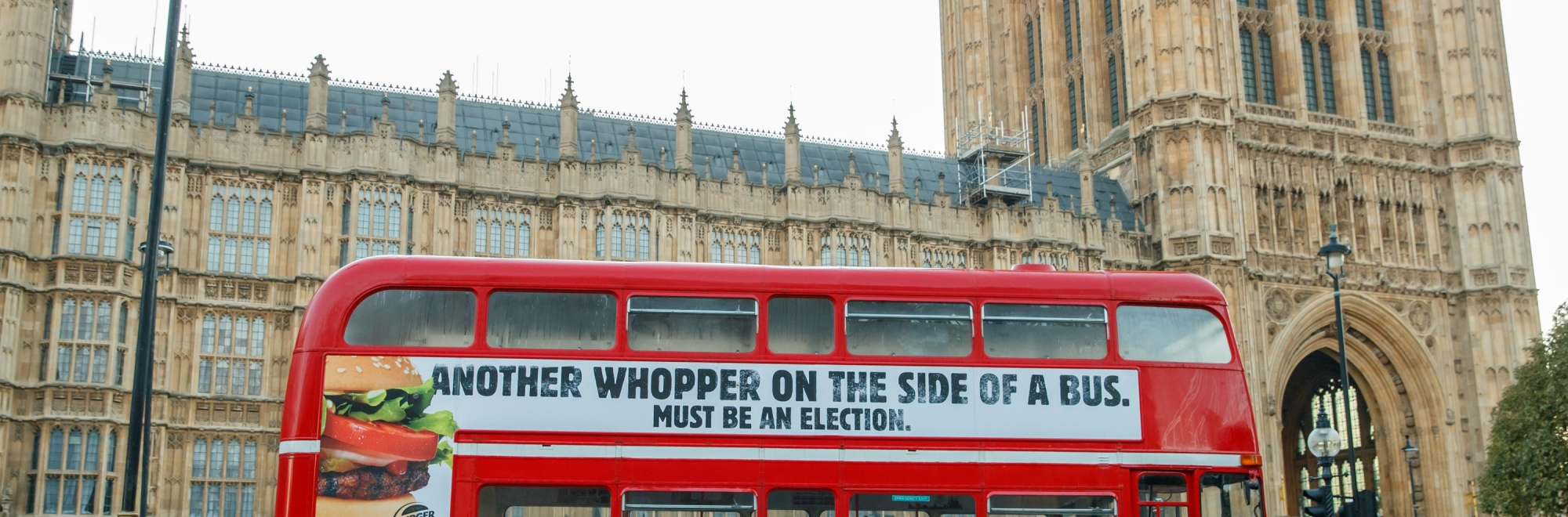 Burger King and BBH have proudly produced a Whopper on the side of a bus