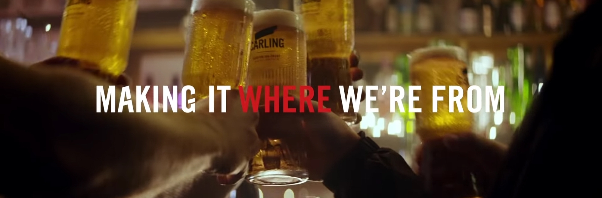 Carling returns to its hometown to tell the story behind its lager