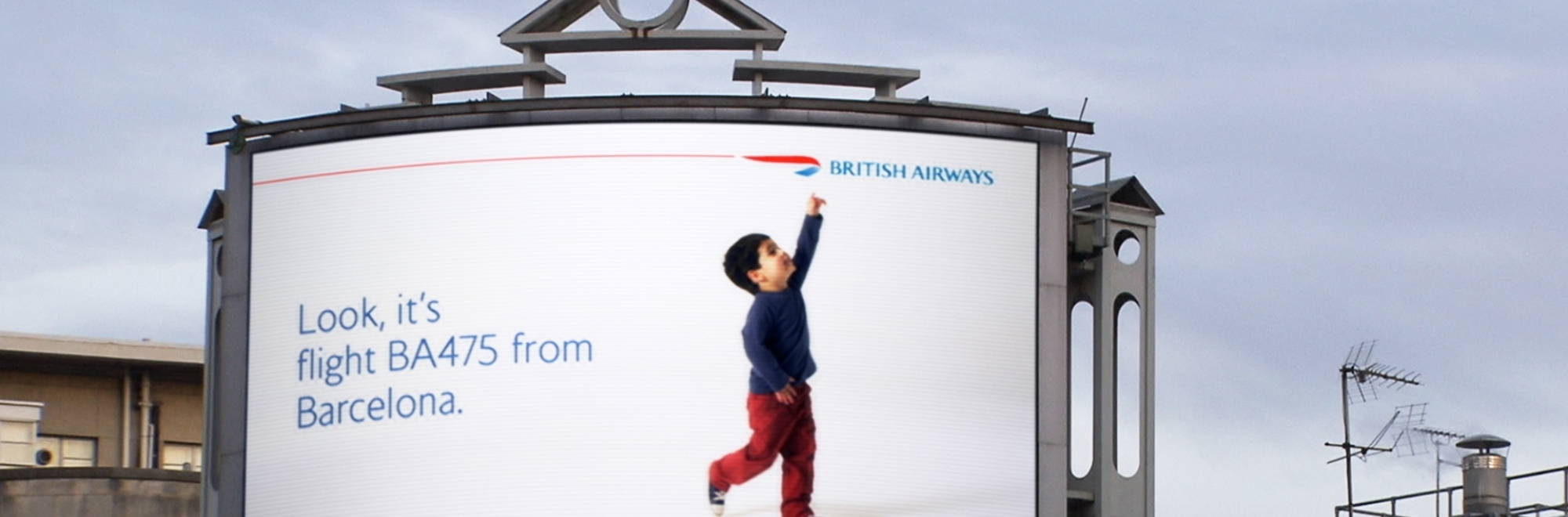 Combining children, creativity and technology: BA's billboard campaign