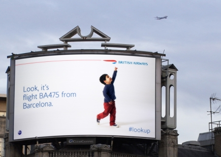 British Airways Digital Billboards Barcelona