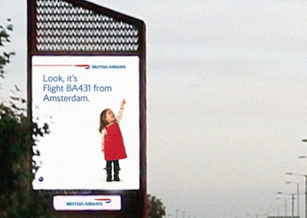 British Airways Digital Billboard Girl