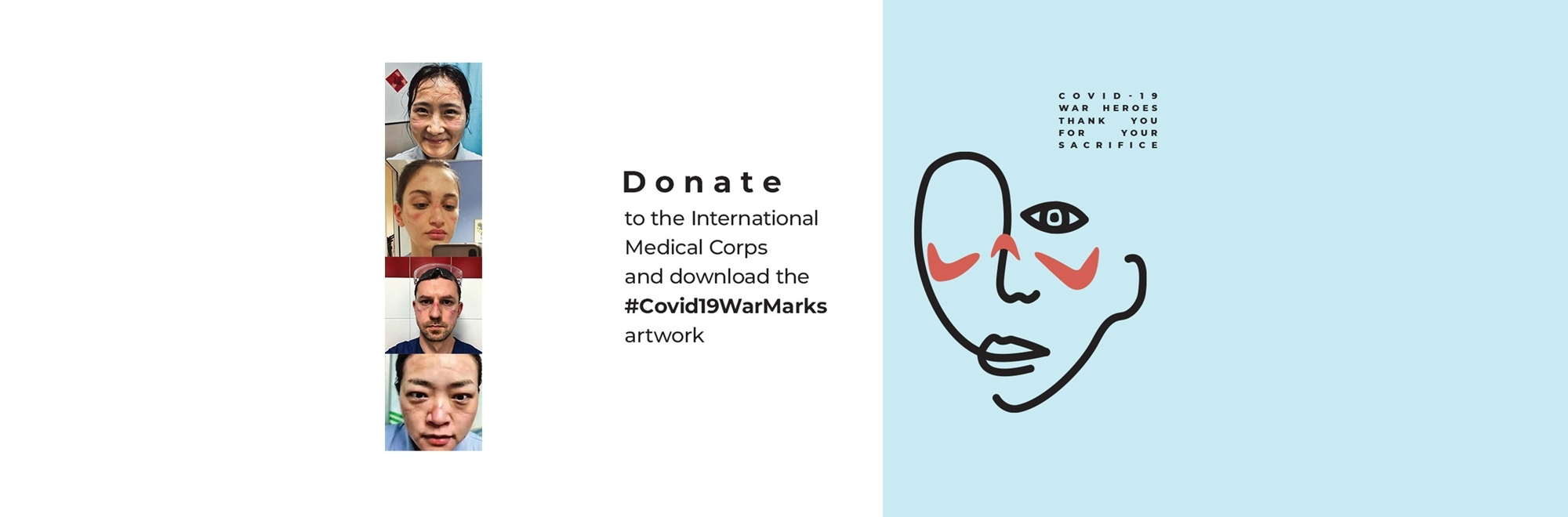 Interweave Agency and the International Medical Corps creates #COVID19WarMarks donation campaign that gives donors tribute artwork