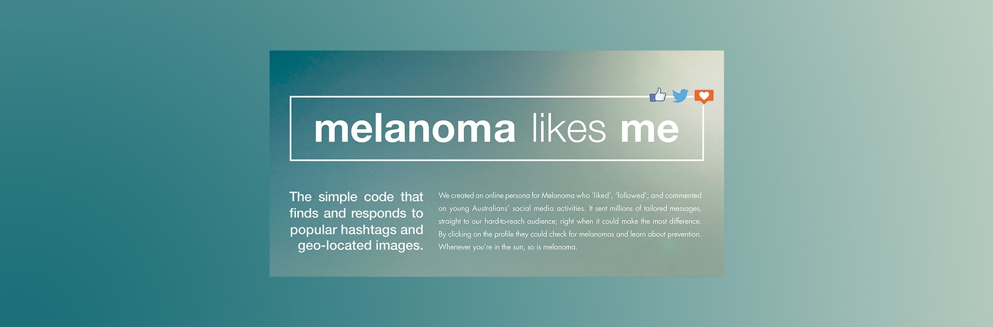 ICYMI: How Melanoma Patients Australia engaged with young sunbathers via social media in this skin cancer prevention campaign
