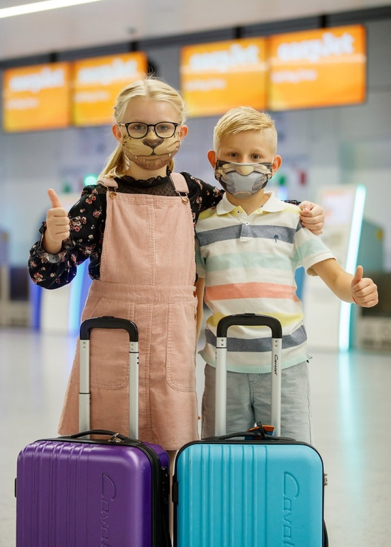 'Comic book' face masks for kids under six on easyJet flights