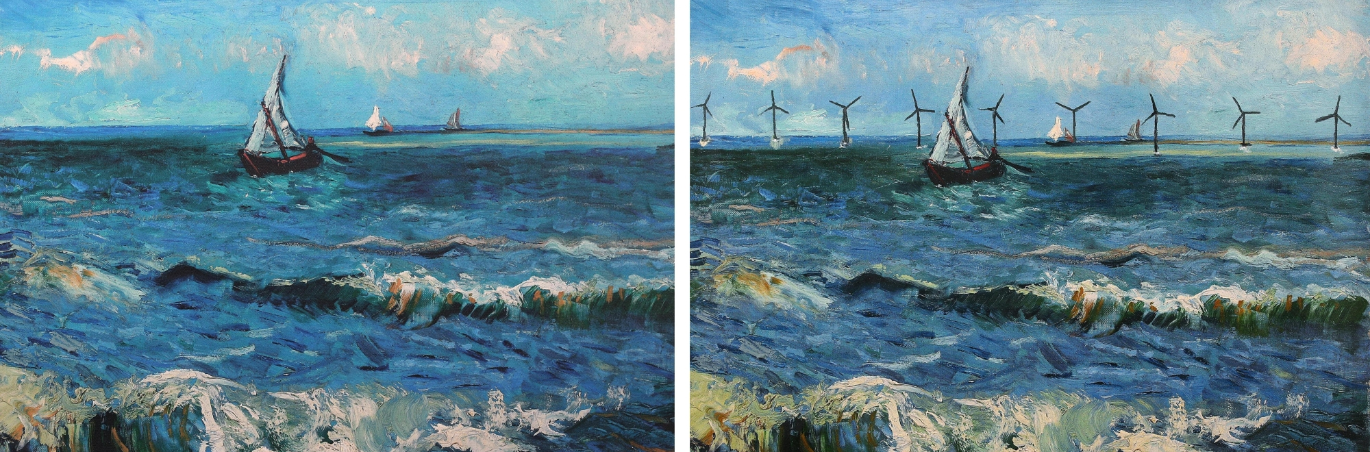 Famous paintings in history reimagined to reflect the possibilities of a zero carbon shipping industry