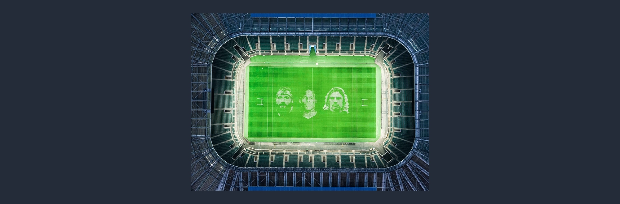 Giant pitch portrait of Premiership Rugby stars unveiled at Twickenham to mark long-awaited restart of the season