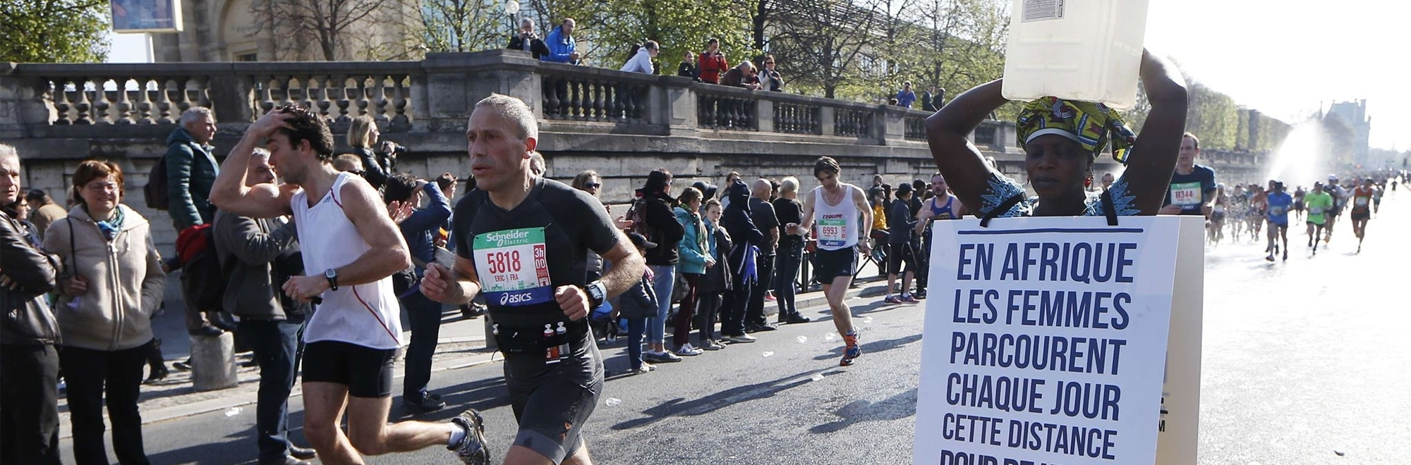 Water for Africa takes part in the Paris Marathon