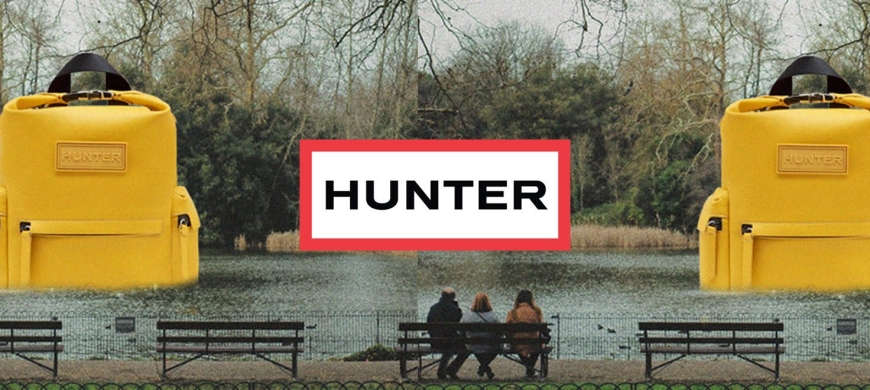 Giant inflatable Hunter backpacks are 'hidden' in London
