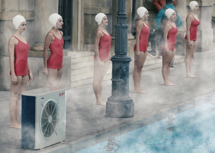 Eon Swimmers On Street