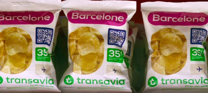 Inspired but Unknown: Budget airline Transavia sells cheap flights in crisp packets