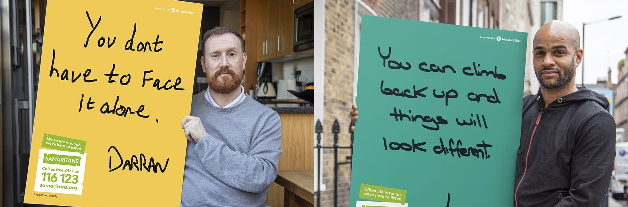 Men open up in a Samaritans campaign that shows 'It's ok not to be ok'