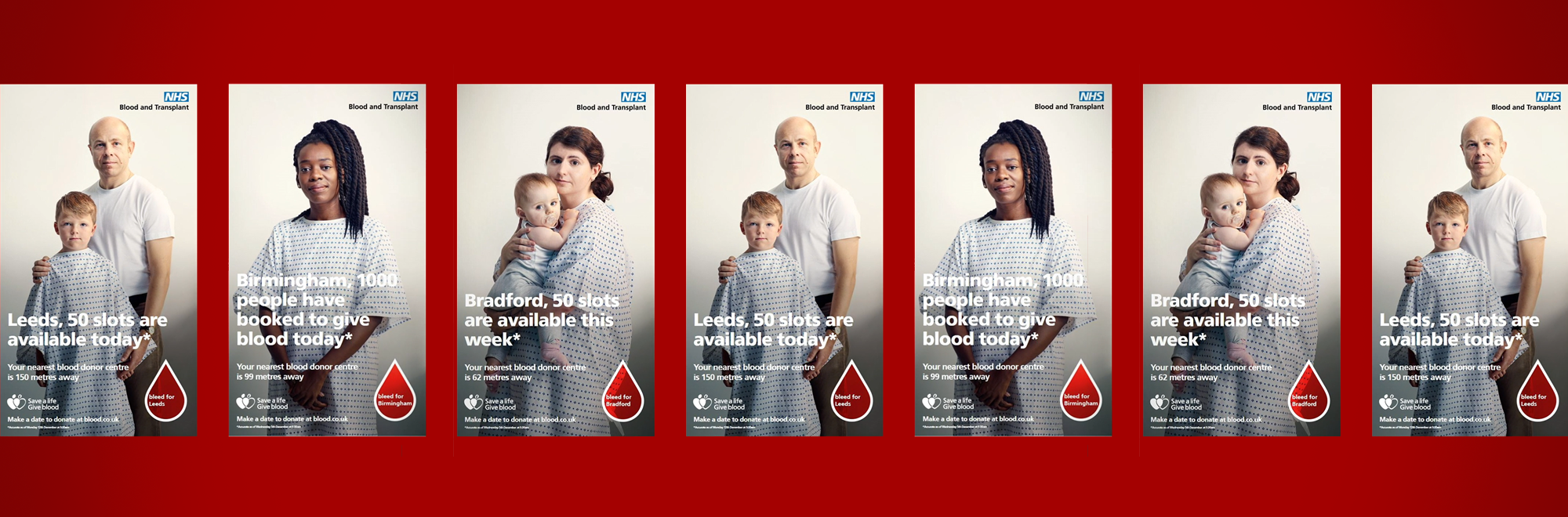 NHS Blood and Transplant, 23red and Clear Channel harness live data and real recipients to encourage regular blood donation