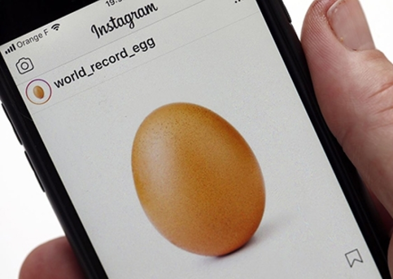 Picture of an egg breaks the world record for 'likes' on Instagram