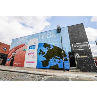 Specialist out-of-home agency Kinetic creates 'living mural' for Sanex's launch of 99% biodegradable Zero% shower gel