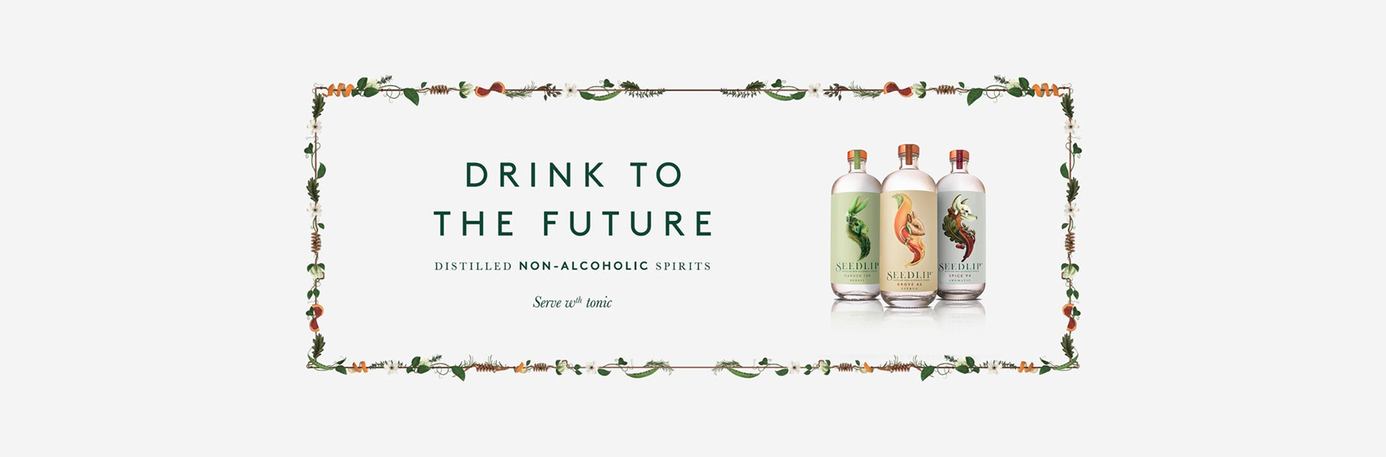 Seedlip launch first advertising campaign 'Drink to the Future' with And Rising