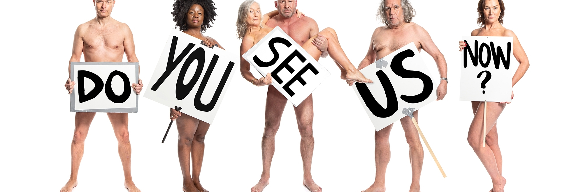 Stripped-down ads: Naked over-50s demonstrate against ageism for dating app Lumen