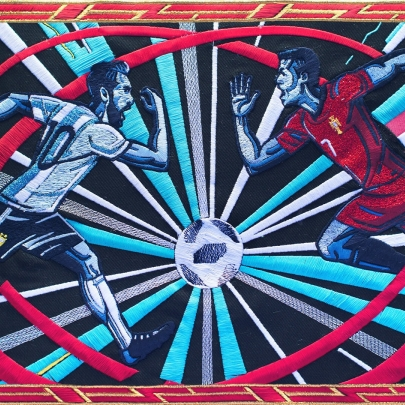 "Did the BBC's World Cup ""History Will Be Made"" tapestry score creatively?"