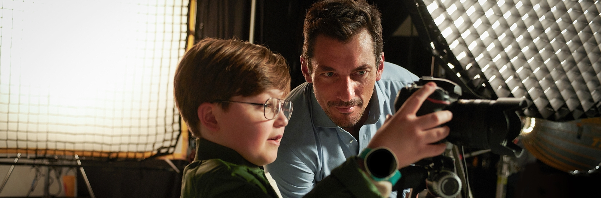 Vodafone teams up with model David Gandy on a shoot where the kids call the shots