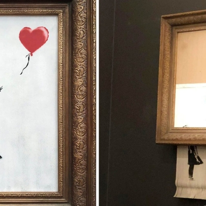 Was Banksy's shredded picture a PR stunt, art terrorism or does he want us to question the value of art itself?