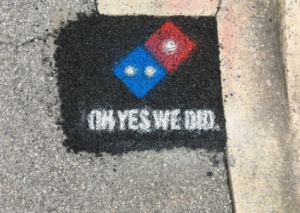 Dominos Pizza On Gravel