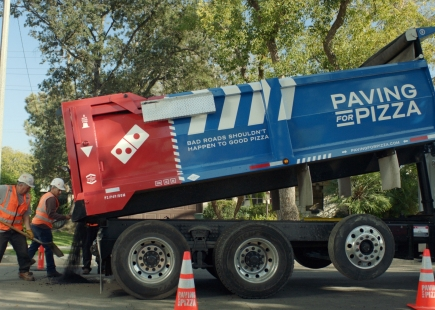 Paving For Pizza Dumping Truck