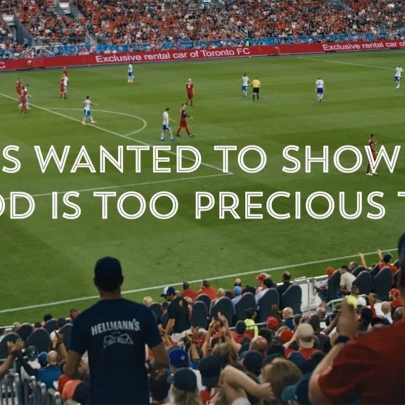 With food waste reaching epidemic proportions, Hellmann's feeds a stadium in Canada to highlight the issue