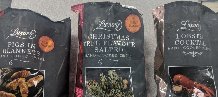 WTF? Iceland launches Christmas-tree flavour crisps